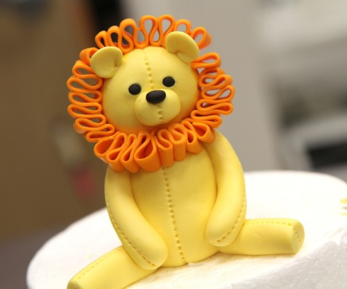 Finished Lion cake Topper!