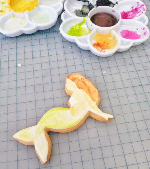 Mermaid Cookie Tutorial Step H