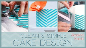 Clean and Simple Cake Design Class Video