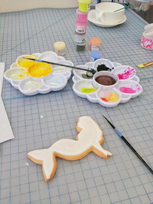 Powered Food Colors for Mermaid Cookie