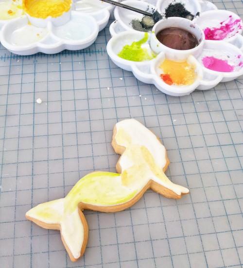 Step by Step Mermaid Cookie Tutorial