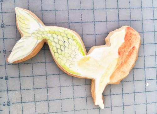 Mermaid Cookie Tutorial Step J