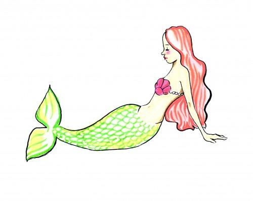 Mermaid Cookie Sketch