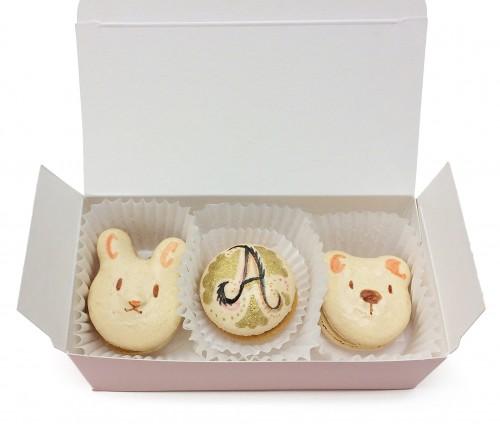 Bunny Bear Monogram Macaron