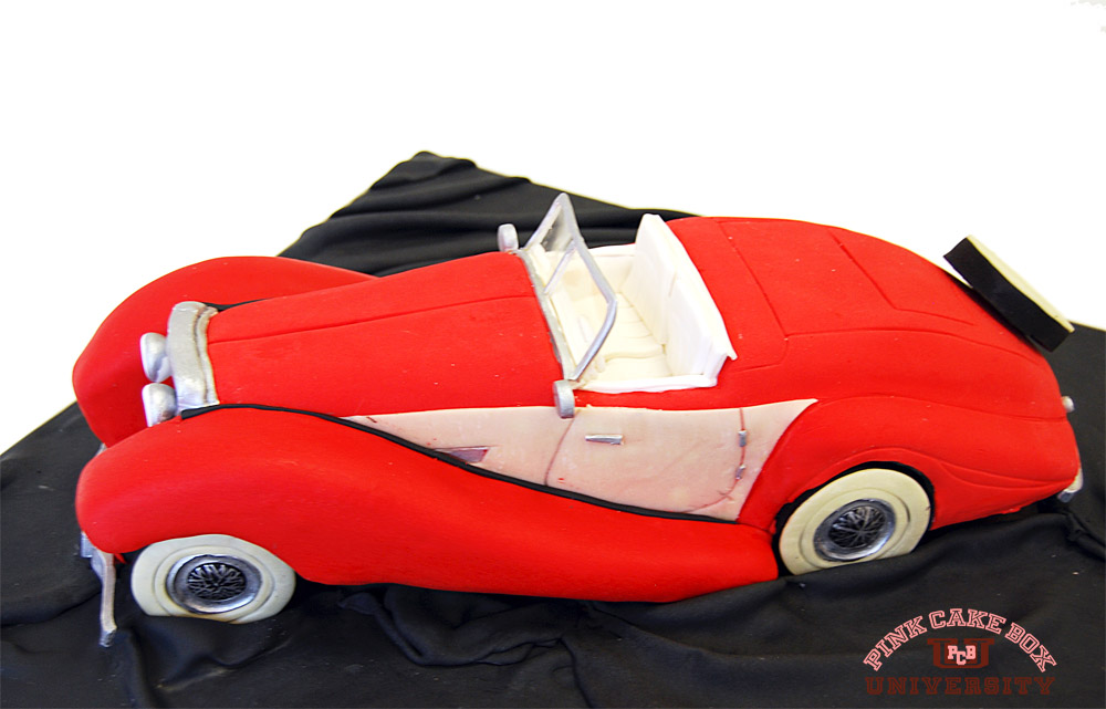 1936 Classic Roadster Car Cake Pink Cake Box University