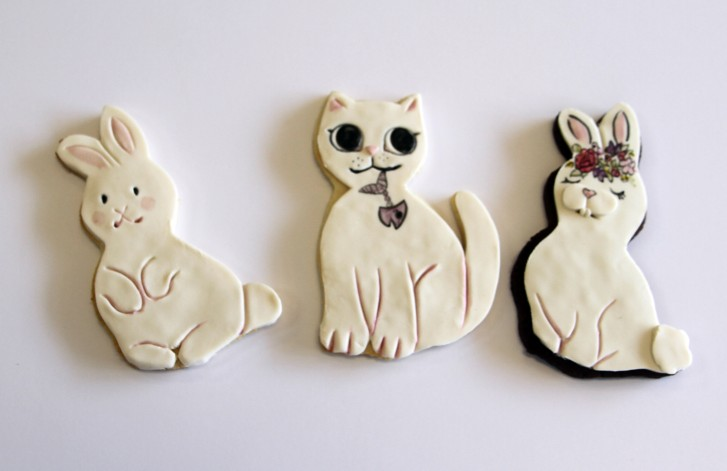 Fondant Bunny Rabbit Cookies