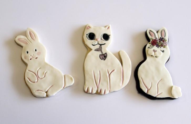 Fondant Bunny Rabbit Cookies