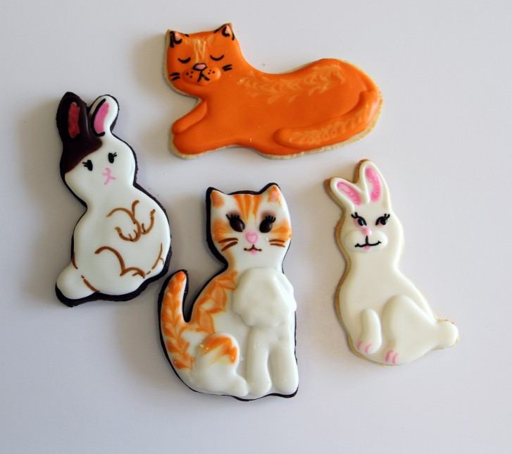 Cat designer cookies