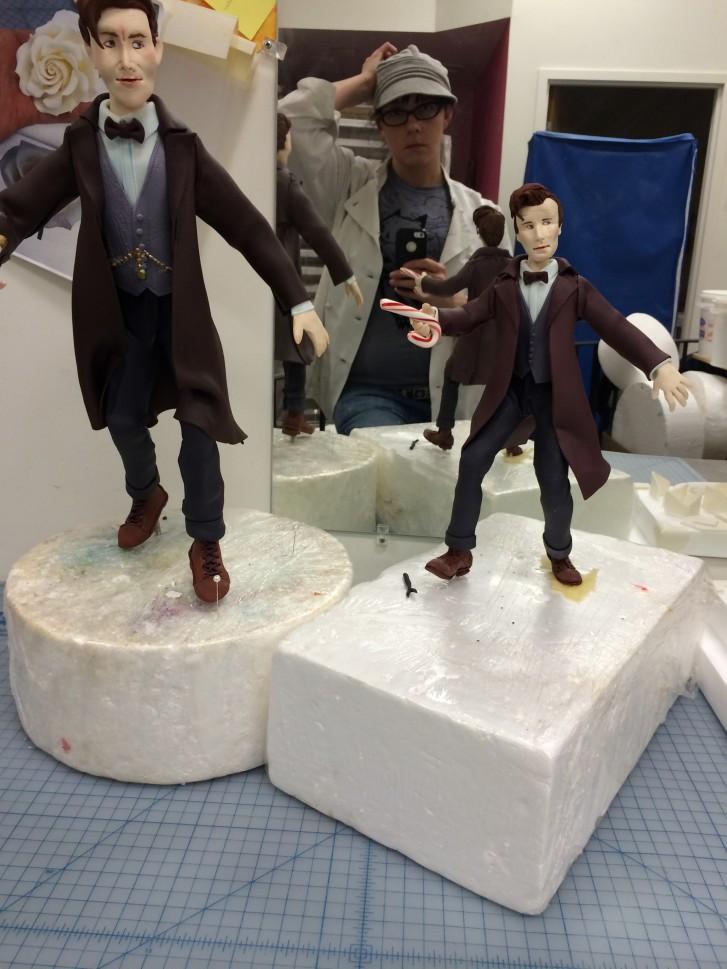Tardis Cake Figures