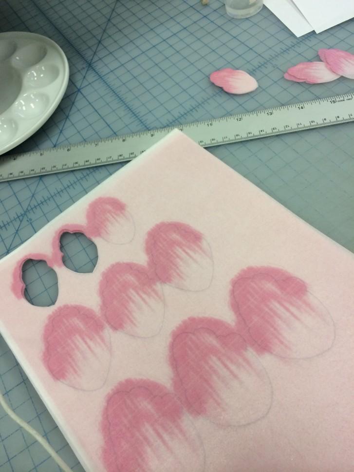 Peony Print sheet and wafer paper petals