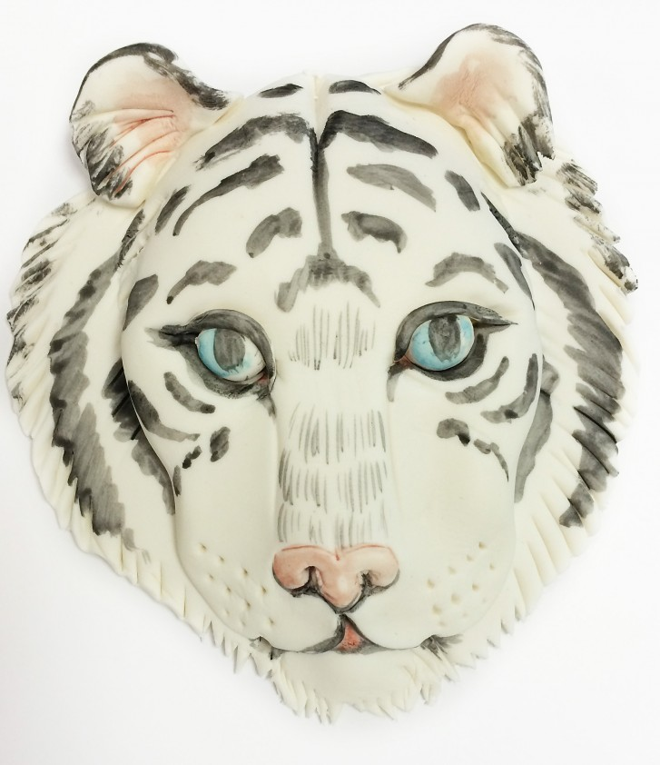 Water color technique tiger cookie
