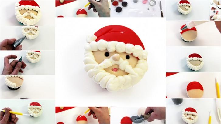 Santa Cupcake Tutorial