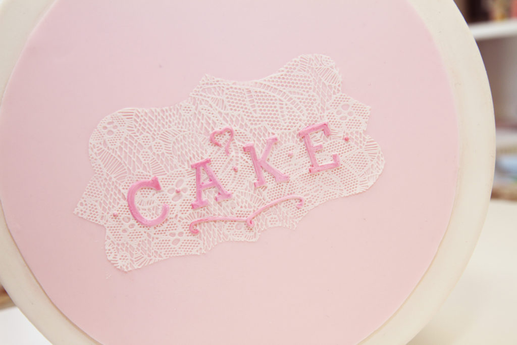 Cake Lace letter mold
