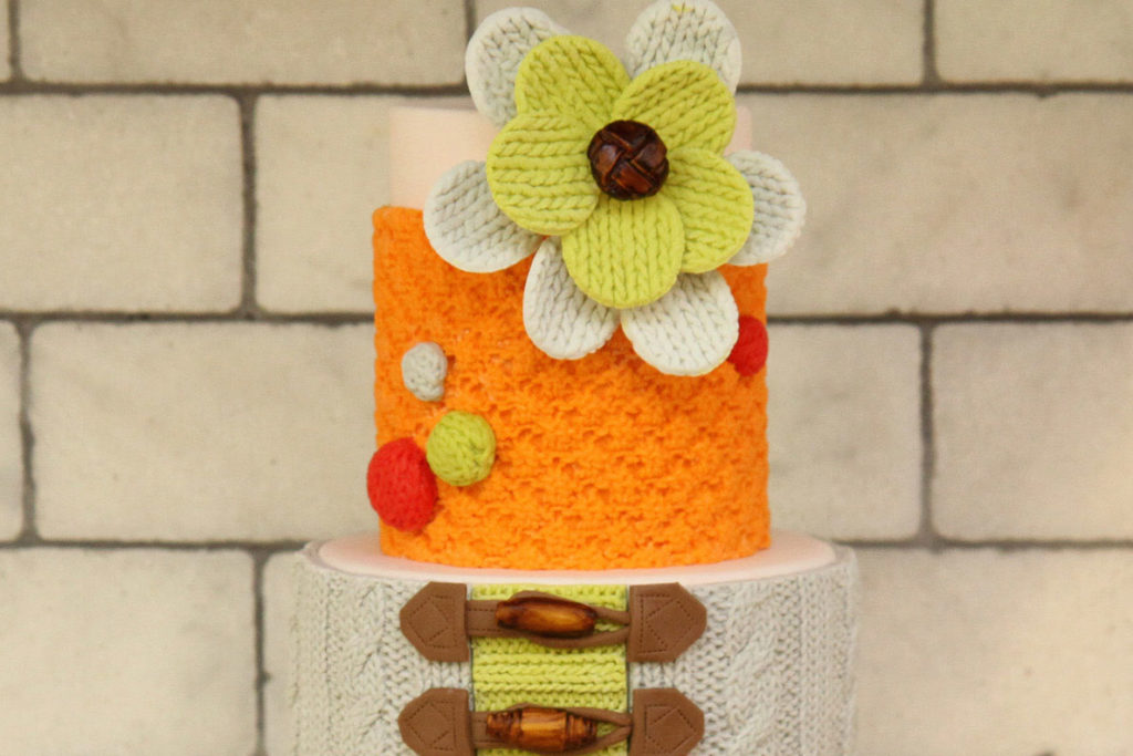 Birthday Cake with Knit Mold
