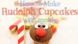 Demonstration of knit molds to make rudolph cupcakes